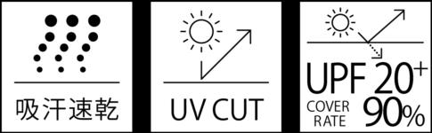 300-ACT_商品特徴_吸汗速乾_UVCUT_UPF20+90%